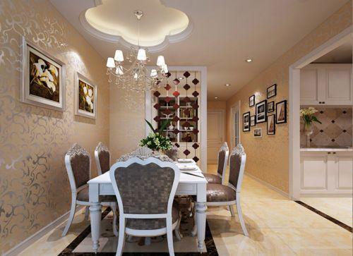 现代简约三居室餐厅照片墙装修效果图大全