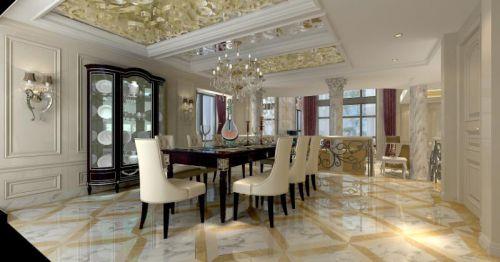 古典与现代结合四居室餐厅吧台装修效果图欣赏