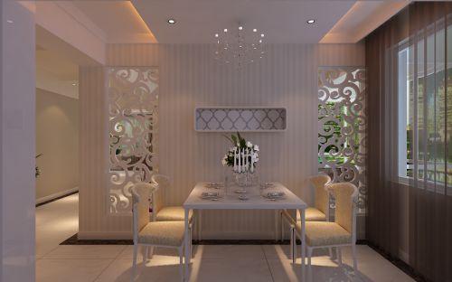 现代简约二居室餐厅餐桌装修效果图