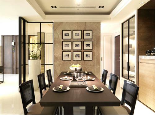后现代三居室餐厅装修效果图大全