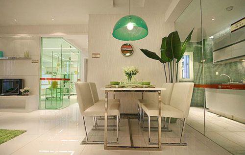 现代简约三居室餐厅装修图片