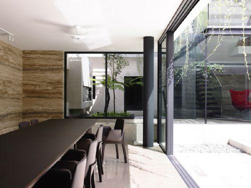 现代简约五居室餐厅吧台装修效果图欣赏