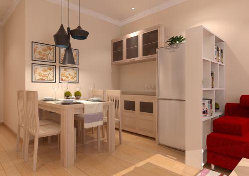 现代简约二居室餐厅装修效果图欣赏