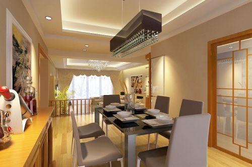 现代简约四居室餐厅装修图片欣赏