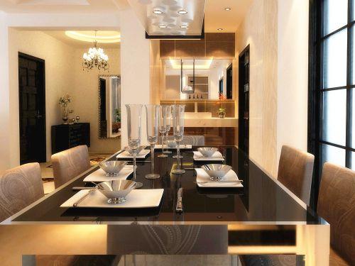 现代简约二居室餐厅飘窗装修效果图欣赏