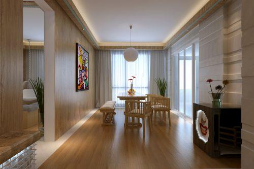 现代简约四居室餐厅吊顶装修图片