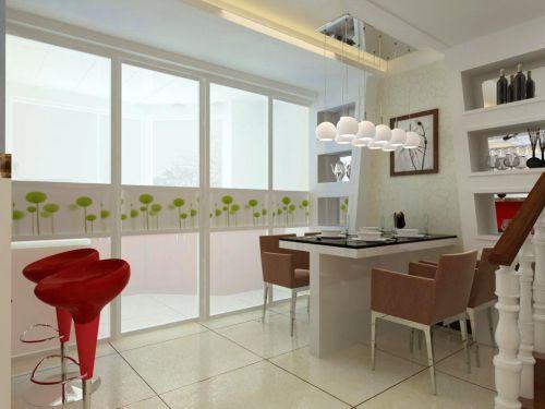 现代简约四居室餐厅背景墙装修效果图欣赏