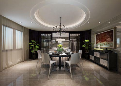 现代简约三居室餐厅酒柜装修效果图大全