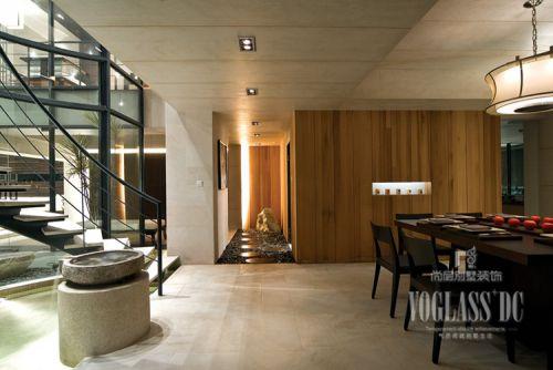 现代简约三居室餐厅酒柜装修图片