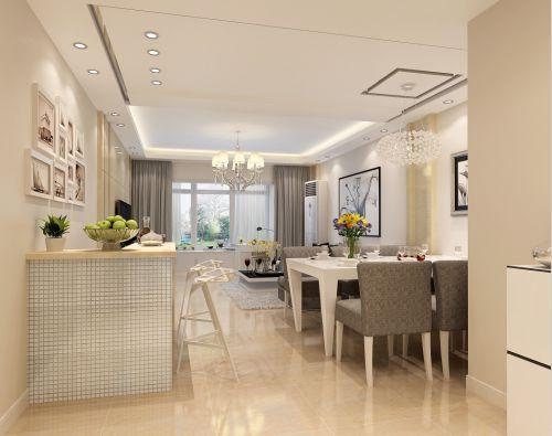 现代简约二居室餐厅背景墙装修效果图