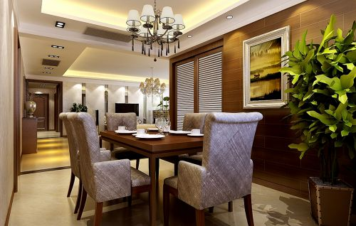 现代简约三居室餐厅梳妆台灯具装修效果图大全