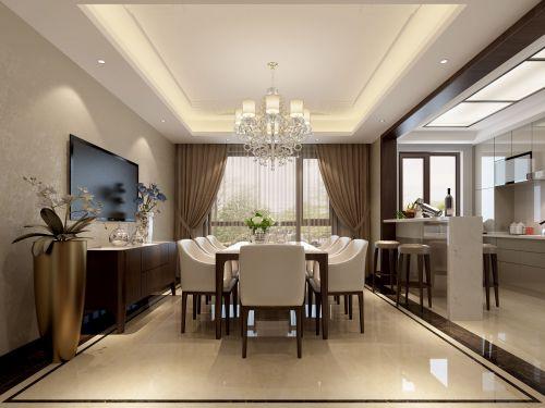 现代简约三居室餐厅橱柜装修效果图欣赏