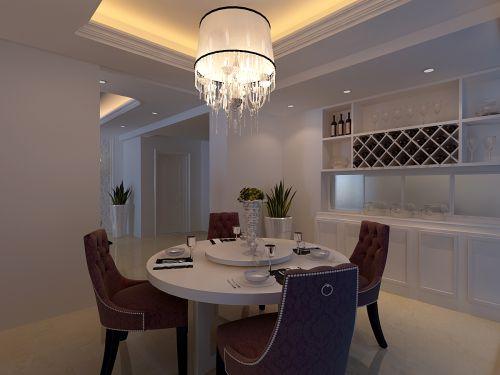 现代简约四居室餐厅装修效果图大全