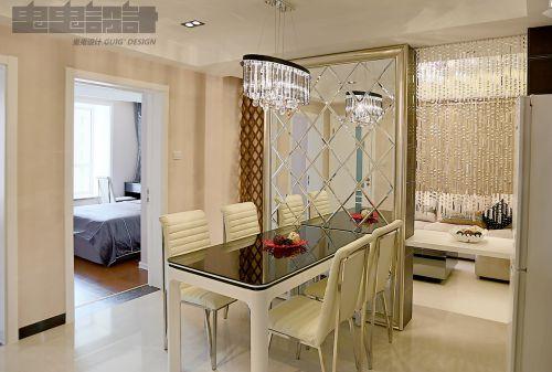现代简约二居室餐厅餐桌装修效果图大全