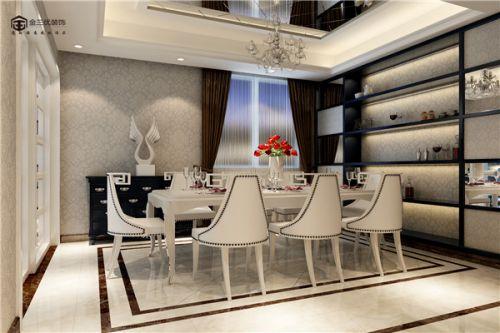 现代简约三居室餐厅照片墙装修图片