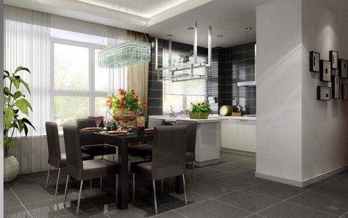 现代简约三居室餐厅背景墙装修效果图欣赏