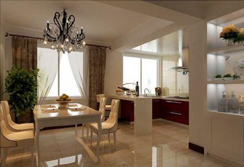 现代简约一居室餐厅装修效果图