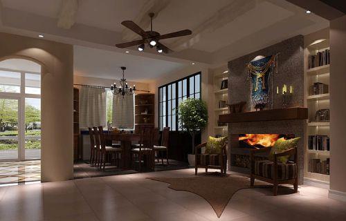 后现代四居室餐厅装修图片