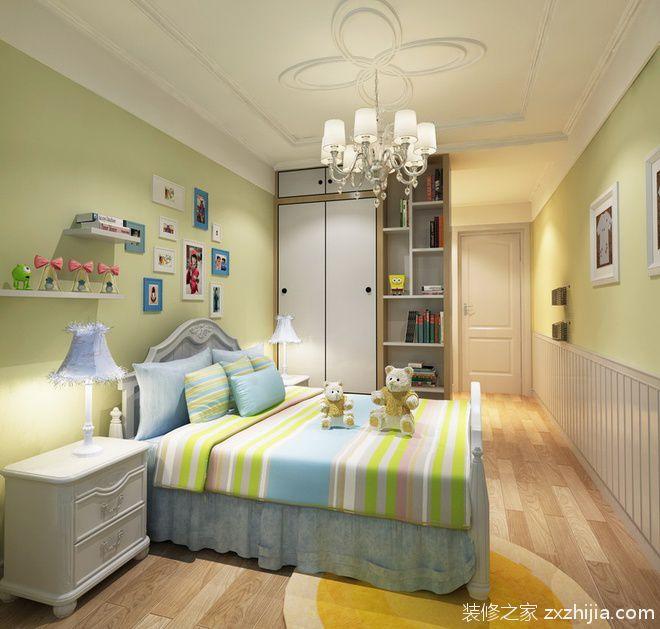 现代简约风格卧室白色一体式衣柜装修设计图_装修之家图片
