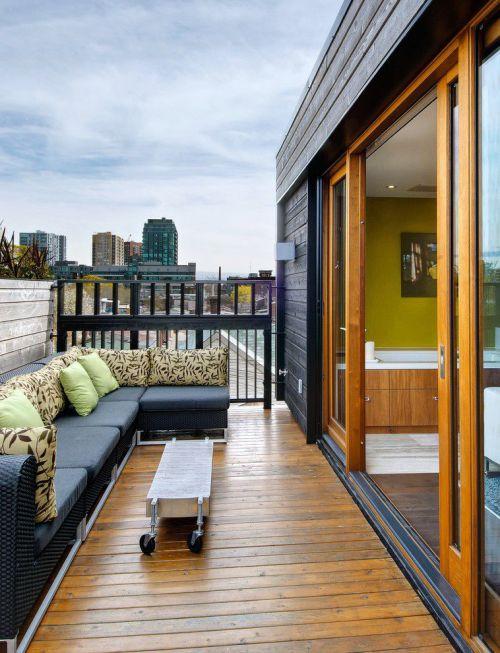 时尚现代风格公寓露天阳台装修图片