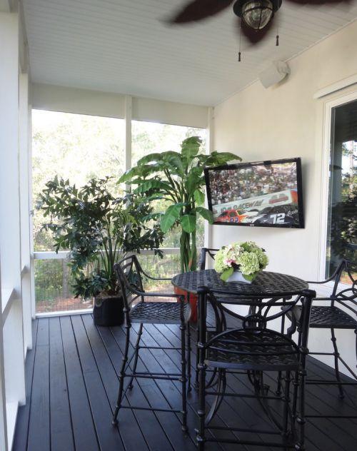 108平休闲公寓现代风格阳台装修实景图