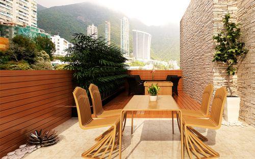 现代简约四居室阳台装修图片欣赏