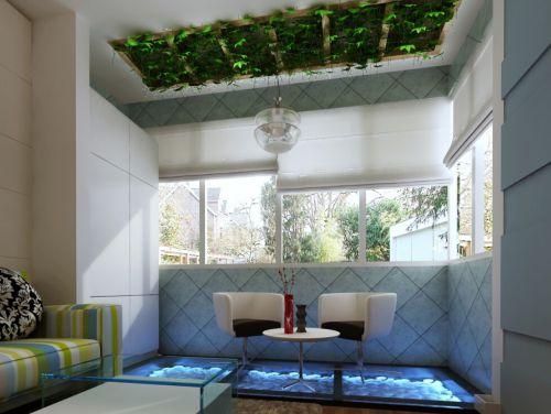现代简约五居室阳台装修效果图欣赏