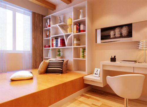 现代简约一居室阳台榻榻米装修效果图欣赏