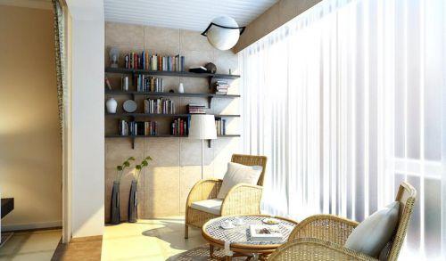 现代简约二居室阳台装修效果图大全