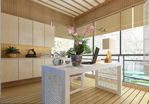现代简约三居室阳台窗帘装修效果图欣赏