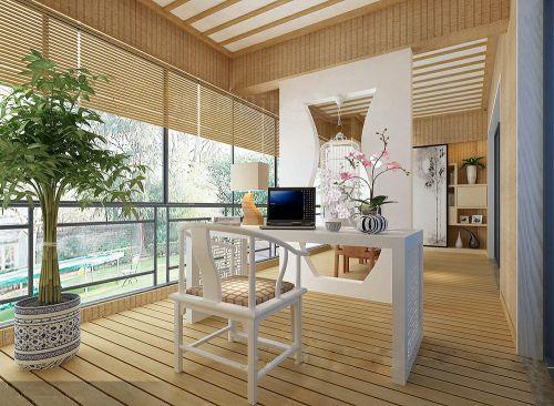 现代简约三居室阳台吊顶装修效果图大全
