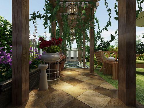 现代简约四居室阳台灯具装修效果图大全