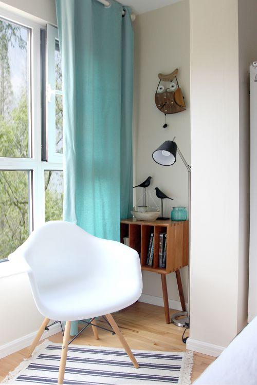 现代简约一居室阳台隐形门装修效果图大全