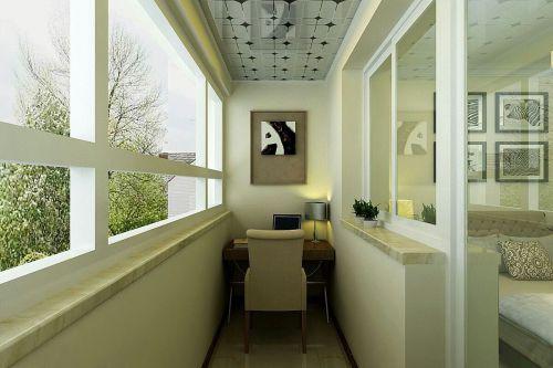 现代简约三居室阳台隔断装修效果图大全