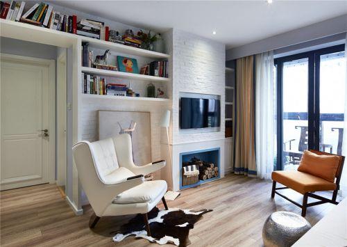 现代简约三居室阳台组合柜装修图片