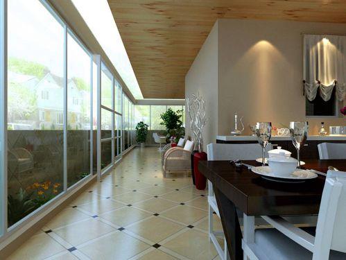 现代简约四居室阳台组合柜装修效果图大全