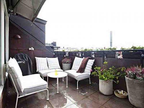 现代简约三居室阳台组合柜装修效果图欣赏