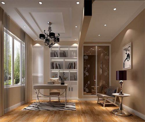 现代简约四居室阳台窗帘装修效果图