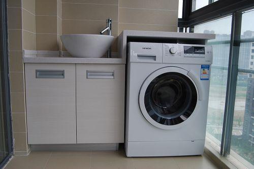 极简现代风格阳台洗衣机装修效果图