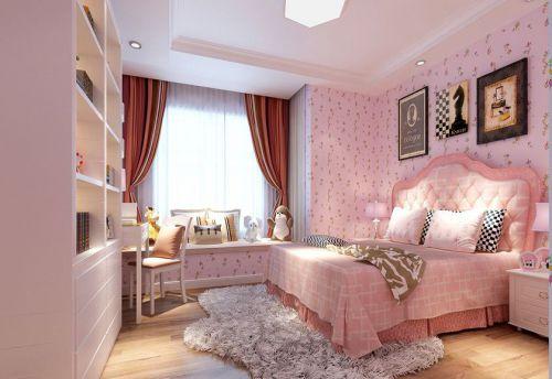 现代简约三居室儿童房床装修效果图大全