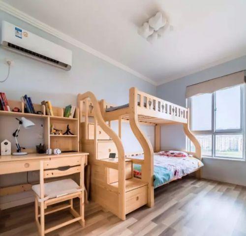 现代简约三居室儿童房组合柜装修效果图欣赏