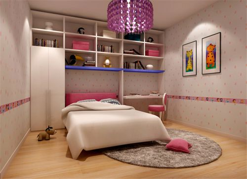 现代简约三居室儿童房榻榻米装修效果图