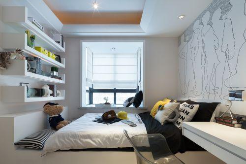 精致功能性现代风格儿童房装修实景图