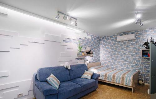 时尚现代风格儿童房背景墙装修效果图