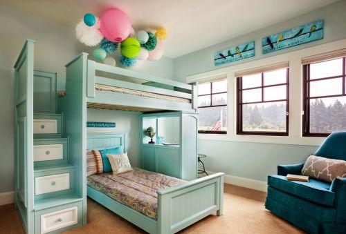清新现代风格别墅儿童房装修效果图