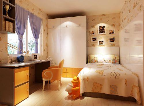 现代简约二居室儿童房床头柜装修效果图大全