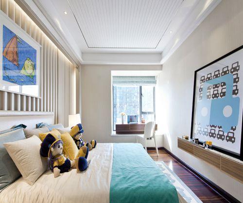 干净明亮时尚现代儿童房装修效果图