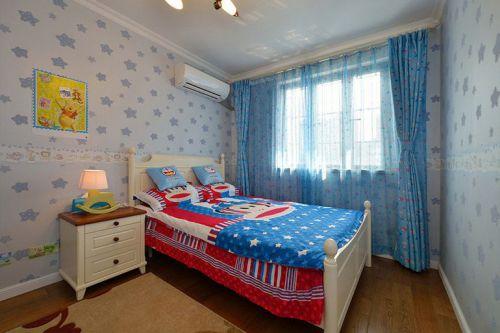 现代简约三居室儿童房窗帘装修效果图大全
