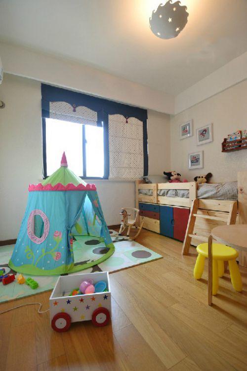 现代简约二居室儿童房窗帘装修效果图欣赏