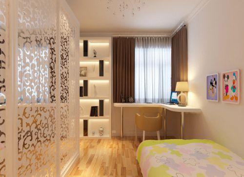 现代简约二居室儿童房婴儿床装修效果图大全